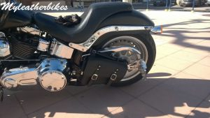 Sacoche PU Harley Softail Fat boy SO0PUNG